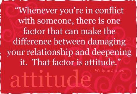 adjust to a positive attitude