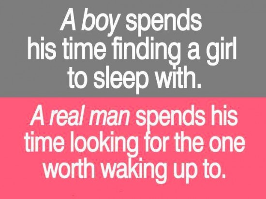 real man or a boy quote