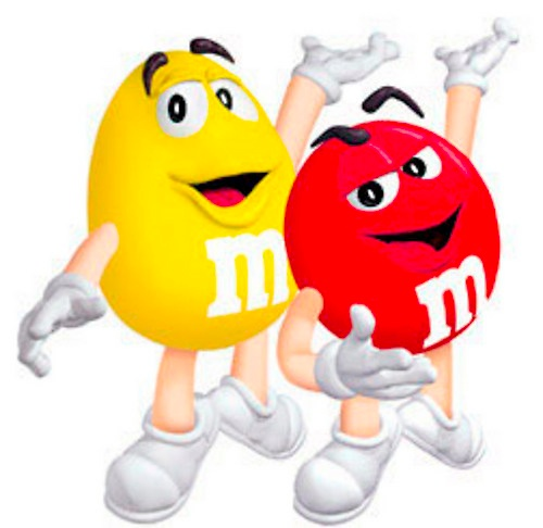 MandMs together
