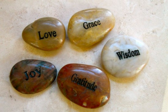 gratitude stones can come in all shapes and sizes