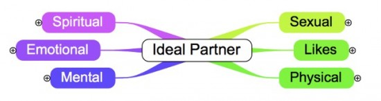 ideal partner mindmap beginnings