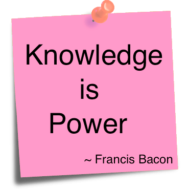 knowledge is power over someone else