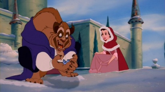 beauty and the beast snowball fight