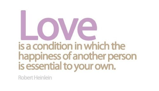 love is about happiness