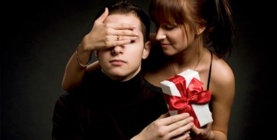 treat him to an unexpected surprise