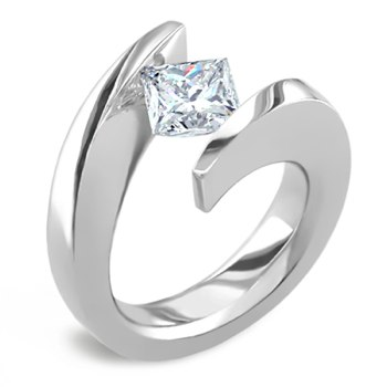unusual designed engagement ring