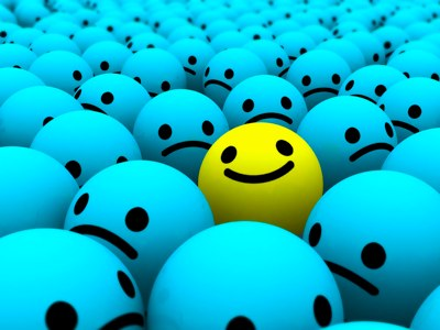 be the happy one in the crowd