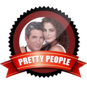 pretty people badge award