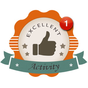 Activity First Starter Award Badge