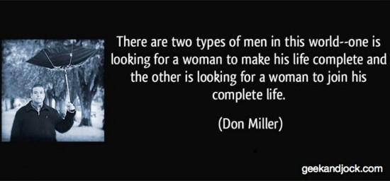 men types so choose wisely