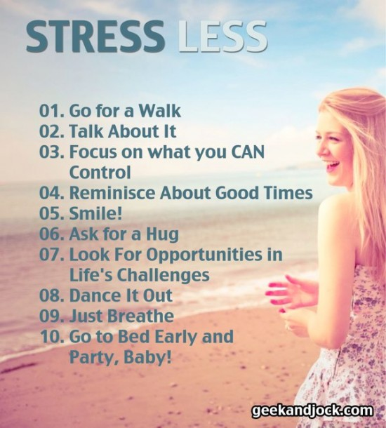 stress less and live better