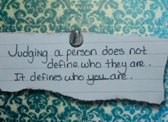 Judging or Understanding? You decide