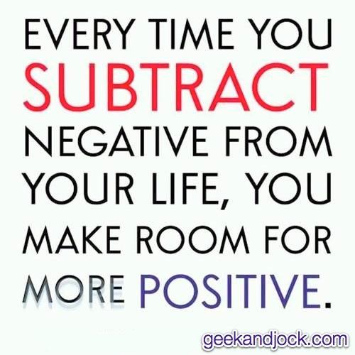 remove suspicion and negativity
