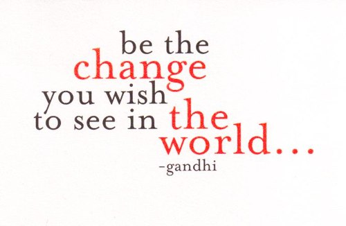 Never a truer word said about change