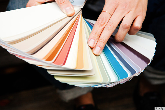 Colour swatches for a sexier bedroom