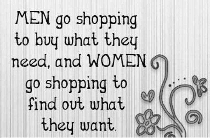 Men, shopping and truth