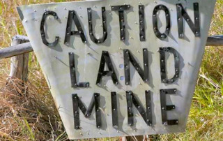 relationships are like landmines - they can often explode