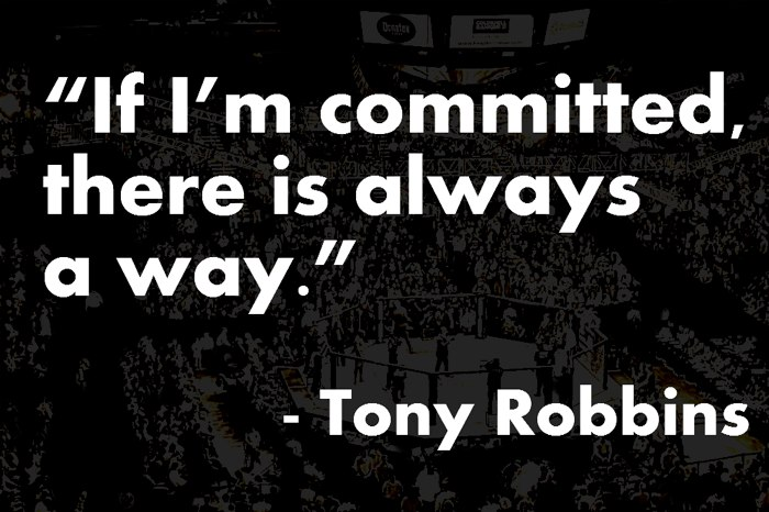 commit and stay focused to reach the goal