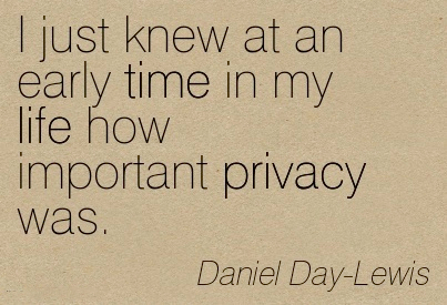 Privacy is important in a family unit