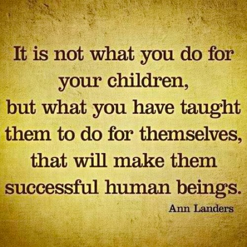 Teach success to your child