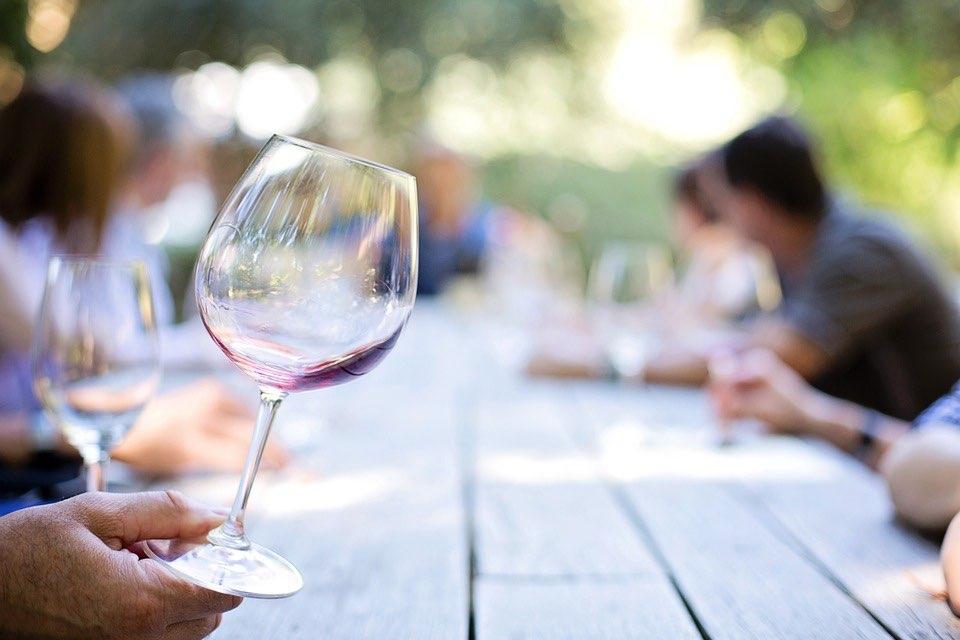 genie in a wine glass