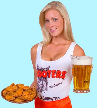 hooters gal with nice figure and boobs - this isn't discrimination, is it?